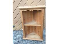 Solid pine corner cabinet