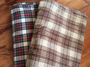 Flannel duvet covers and flannel sheet sets