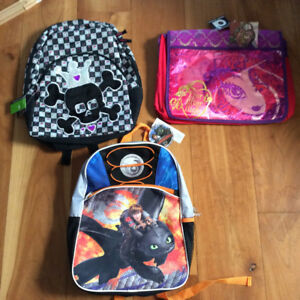 New! Assorted kids backpacks and bags