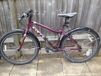 Ladies hybrid bike 3 years old. Good condition.