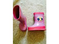 Wellies size 4 infant in the night garden