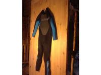 Kids children's junior wetsuit o'neil reactor 3.2 black waterski wakeboard surf swimming