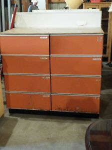 Storage Cabinet Garage Work Tools Paints sand paper