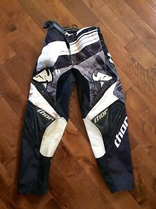 Motocross Pants - Thor - Black and White - Racing - Size 24 Y