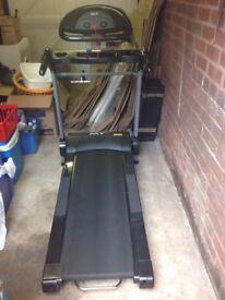 MTI Folding Motorised Treadmill with MP3 Input and Speakers - Little Used