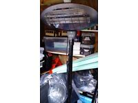 Electric patio heater with three bar settings