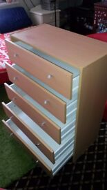 chests of 5 drawer good condition ready to use