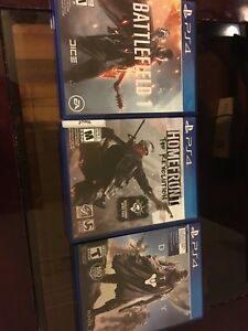 Selling 3 games for great price