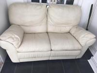 FREE cream leather sofa