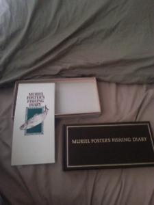 Muriel Foster's Fishing Diary w/ Authenticity booklet and box