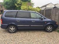 Hyundai Trajet 2.0 blue Manual petrol 7 seater MPV