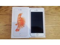 Rose gold iphone 6s plus O2 Network 16gb