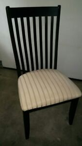 REDUCED - Set of two padded dining chairs - REDUCED