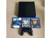 PS4 console + 3 Games