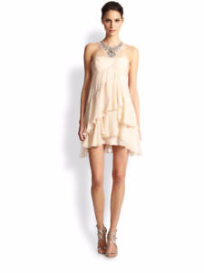 Champagne BCBG chiffon dress size 8