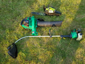 Weed trimmer / leave blower / chainsaw