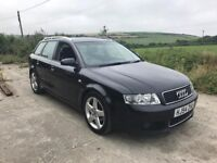 AUDI A4 1.9 TDI SPORT ESTATE BLACK 2004 DIESEL 1 OWNER FSH