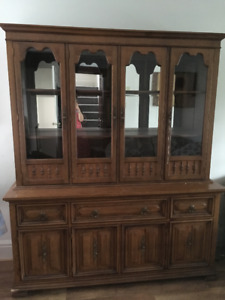 Solid Wood China Cabinet and Buffet