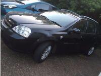 Manual black Chevrolet LACETTI 2006 estate in surrey/walton on thames