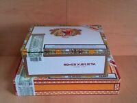 2 Empty Cigar Boxes for Guitars Ukelele's Trinket Boxes ref 823/824