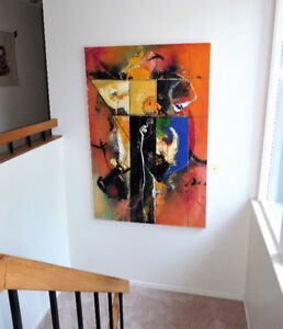 """Jean Gaudreau"" 76""x50"" Painting"