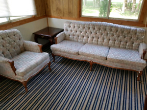 Good condition real wood antique couches