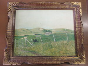 1972 a.b l'heureux north battleford homestead oil painting