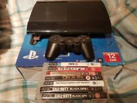 Sony PS3 Super Slim 500GB Boxed with 7 games