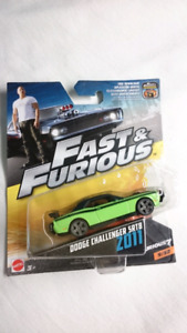 MATTEL FAST AND FURIOUS DODGE CHALLENGER SRT8 DIE CAST FURIOUS 7