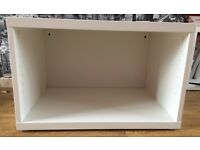 Small white IKEA television stand