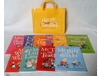 Set of 10 Happy Families Books + Bag (Brand New)