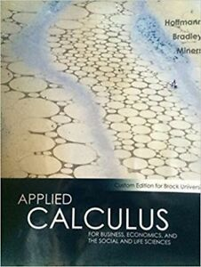 Applied Calculus for Business, Economics, and the Social..