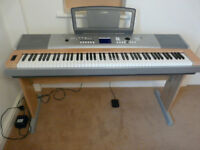 Yamaha DGX-620 keyboard, stand, sustain pedal, manual, power supply
