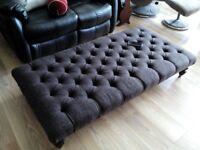 large harris tweed foot stool