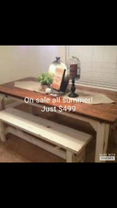 Dining tables on sale! Payment plans as low as $22