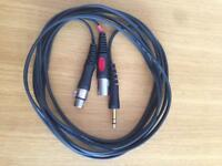 8 x 4m Insert Cables Jack - XLR Male Female