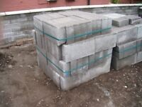 concrete building blocks, bricks, 126 new superior quality blocks, 13 sq. metres approx.