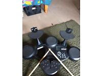Table top electric drum set