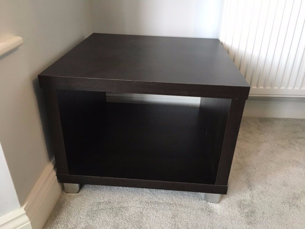 Coffee table/side tablein Bromley, LondonGumtree - Coffee table/side table 60 cm x 60cm x 45cm Dark brown wood effect. Good condition