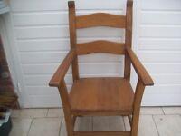 Heavy Wooden Throne Chair
