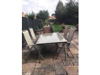 Garden outside/outdoor table and 4 chairs