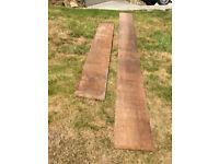 2 lengths of Iroko hardwood