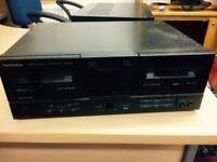 Technics RS X302 stereo double cassette deck