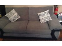 DFS Fabric sofas 3 seater & large 2 seater