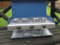 Campingaz Camping Chef gas cooker - 2 burners and a grill + new full 5kg Patio Gas cylinder