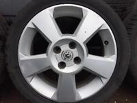 "Vauxhall corsa 16"" alloy wheels with tyres"