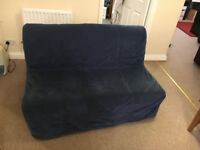 Ikea Sofa Bed LYCKSELE - Dark blue - Very good condition