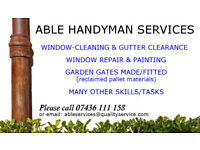 Handyman and window-cleaning services
