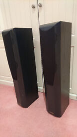 Mission Floor standing monitor speakers, excellent condition