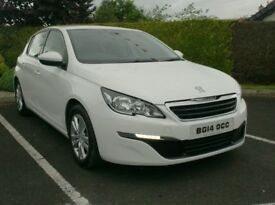 2014 New Model Peugeot 308 1.6Hdi, Free tax, Low Miles, Finance Available
